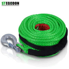 St Winch Rope Dyneema Synthetic With Hook 38 X 100ft 23809 Lbs Recovery Cable