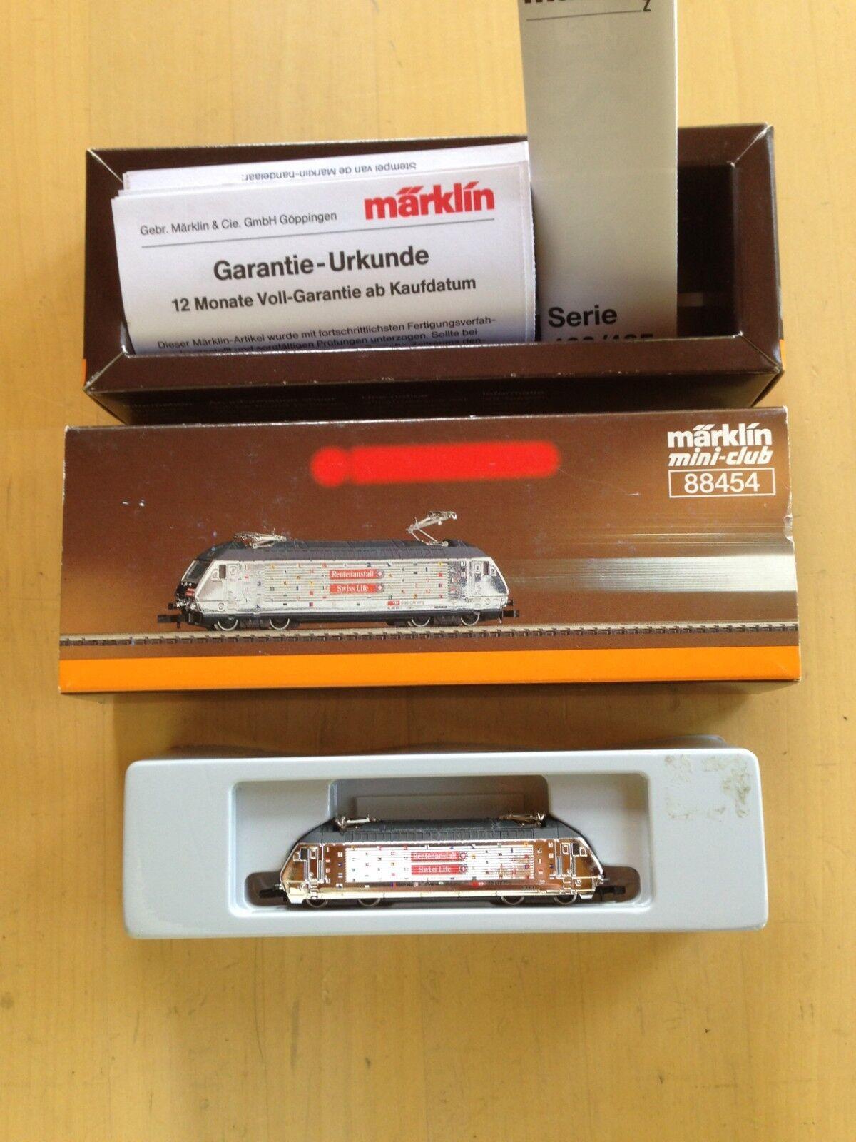 Marklin 88454 MiniClub Z Scale Rentenanstalt Swiss Life SBB Train