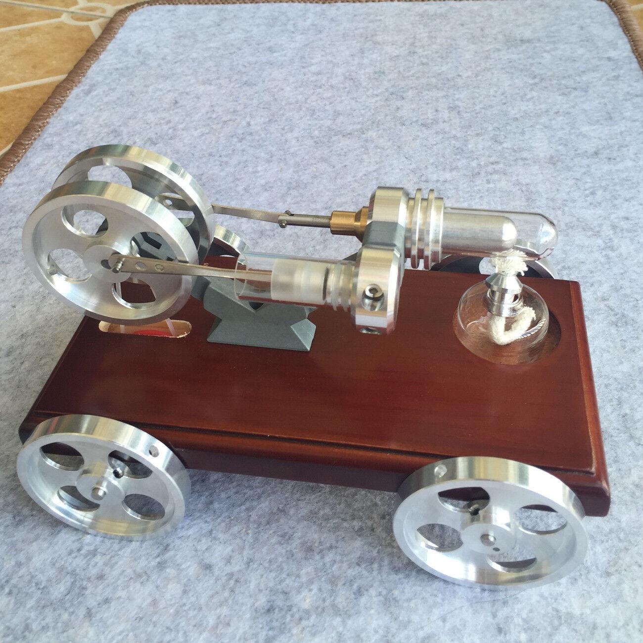 Mini Hot Air Stirling Motor Modell för Toy Air Heating Micro Generator Bilmodelll