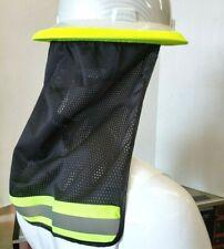 2 Pc Fx Safety Hard Hat Neck Shield Helmet Sun Shade Hi Vis Reflective Stripe