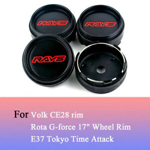 4x-66mm-RAYS-Nabendeckel-Felgendeckel-fuer-Volk-CE28-TE37-Tokyo-Time-Attack
