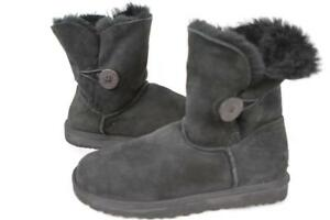24c1371c65b Details about UGG AUSTRALIA Bailey Button Sheepskin BOOTS Black SN 5803 UK  7.5/ US 9 100 G