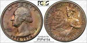 1976-S-QUARTER-DOLLAR-25-CENTS-SILVER-BU-PCGS-MS64-TONED-COIN-IN-HIGH-GRADE