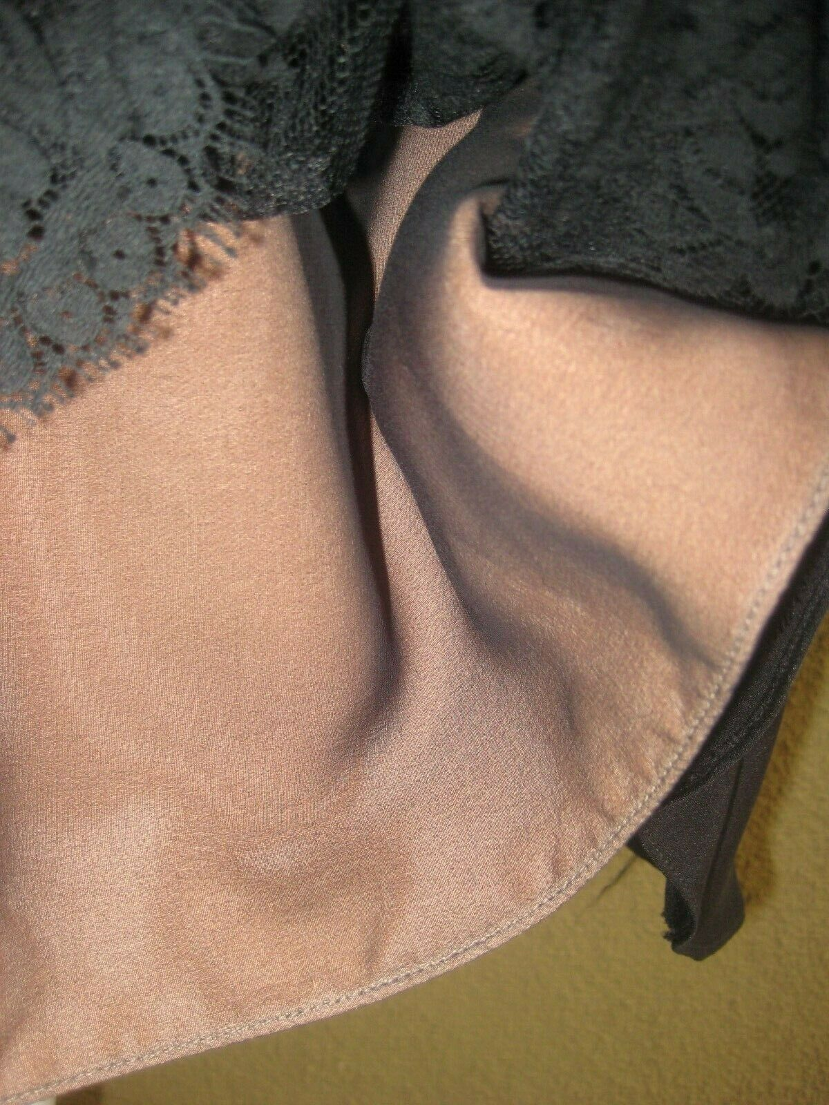 Vintage 1980's Travilla black drop waist LS lined… - image 5