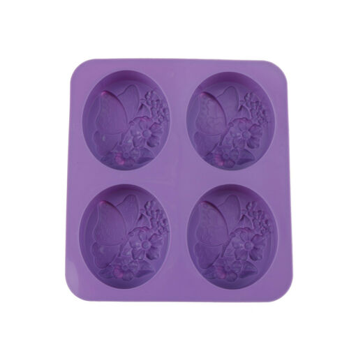 four soap mold butterfly cute flower DIY handmade soap silicone mold HI