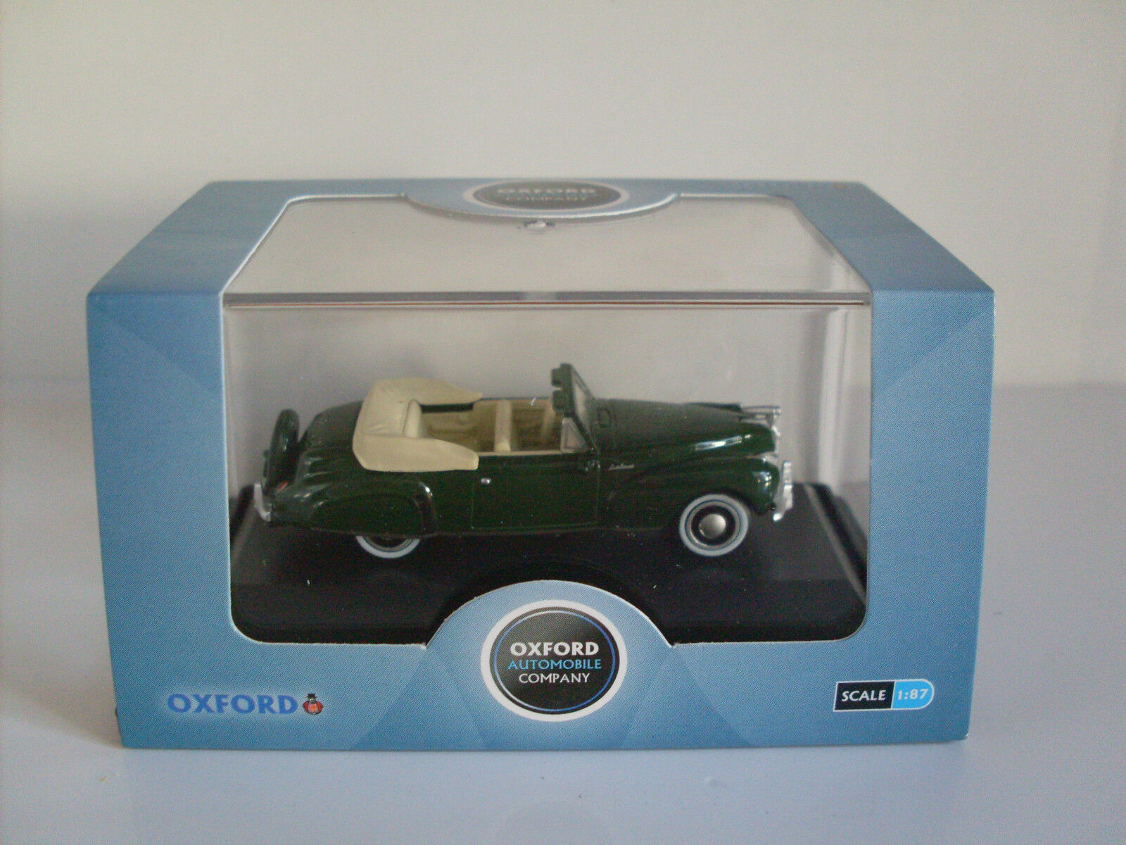 LINCOLN CONTINENTAL green, échelle H0, Oxford voiture véhicule modèle 1 87