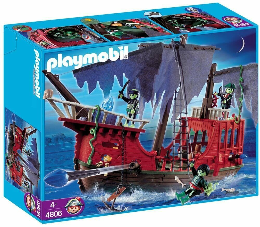 Playmobil Ghost Pirate Ship Set 4806 NEW SEALED [Discontinued Collectible]