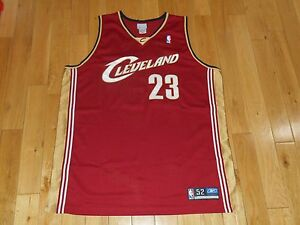 half off 27e70 e73fe Details about 2004 Reebok LEBRON JAMES CLEVELAND CAVALIERS Cavs Authentic  NBA Rookie JERSEY 52
