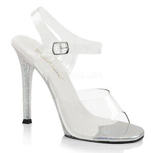 Pleaser 08mg Bikini Sandals Fabulicious Shoes Pole Gala Posing Clear Dancing xHxq1Z6