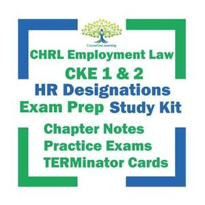 CHRL CKE CHRP Certified Human Resources Leader Employment Law Exam Prep Study Textbooks & Exams Ontario Preview