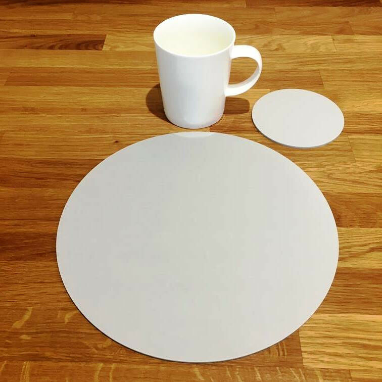 Round Placemat and Coaster Set - Light grau