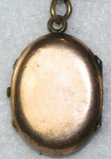 VICTORIAN ANTIQUE 1880'S CHINESE TIN TYPE DAG PHOTO GOLD FILLED LOCKET PENDANT