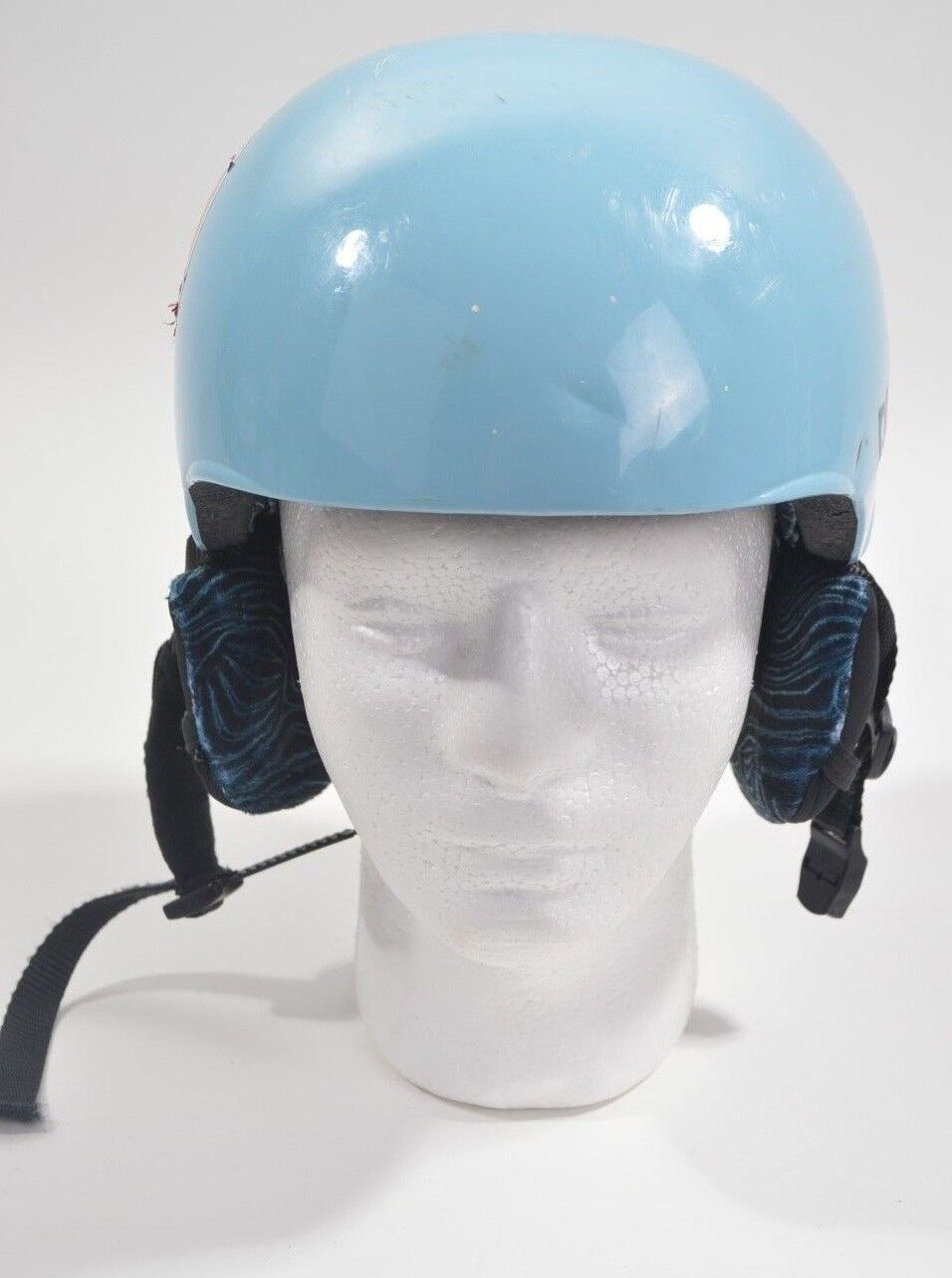 2009 WOMENS RED HIFI SNOWBOARD HELMET  S light blueee USED hard shell ski