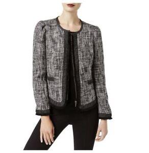 Blazer à manches International Inc longues tweed Concepts court Veste en OAx6q