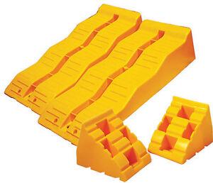 Caravan-RV-3-step-levelling-ramps-amp-chocks-set-with-bag-TS-570SET-suit-motorhome