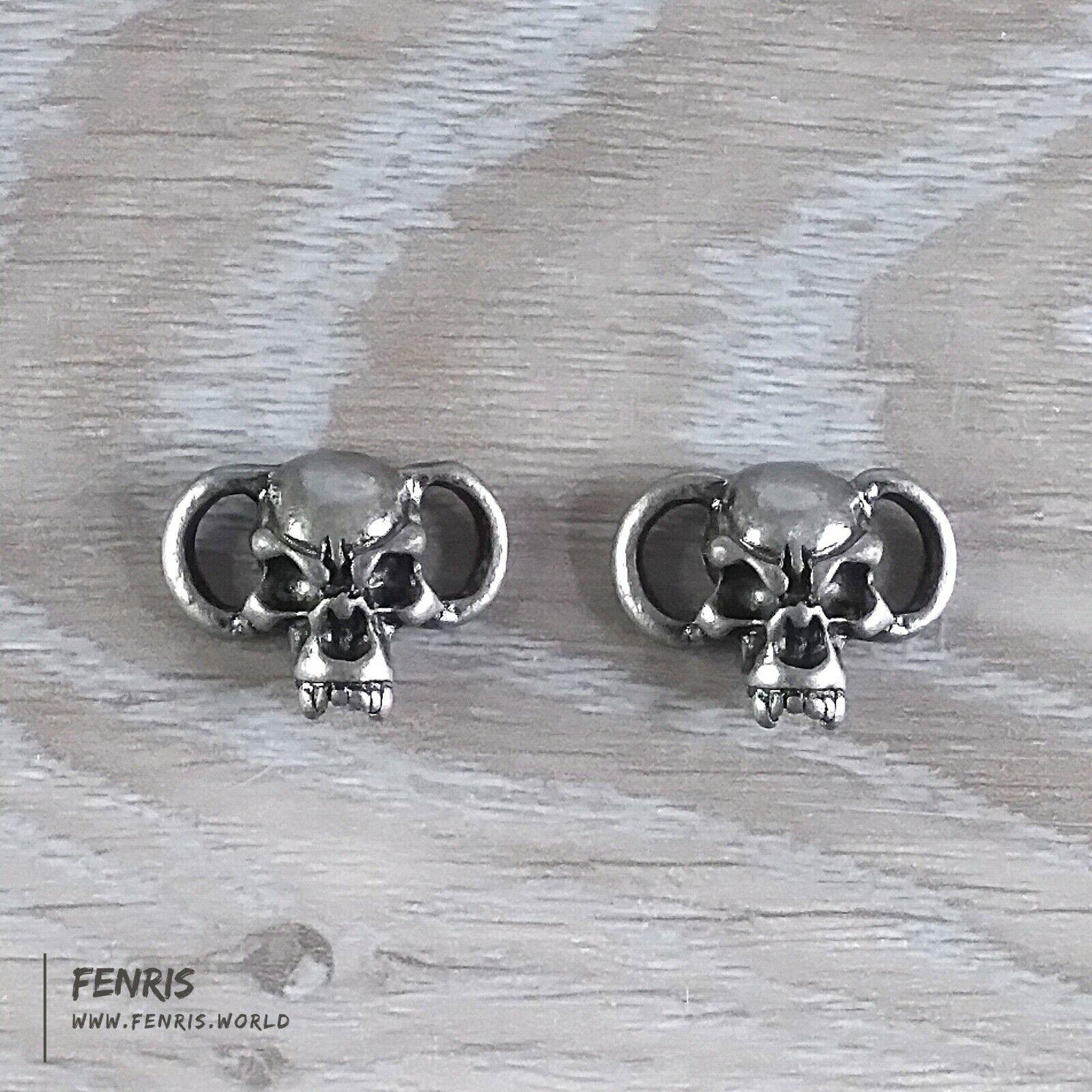 Skull Boot Lace Charms Silver Shoelace Jewelry