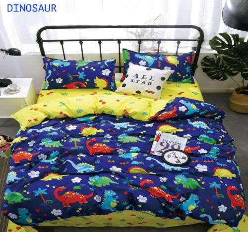 Animal Print Duvet Cover Set with Pillow Cases Quilt Bedding Set Single Double