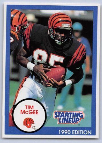 CINCINNATI BENGALS - BLUE 1990  TIM McGEE Starting Lineup Card SLU