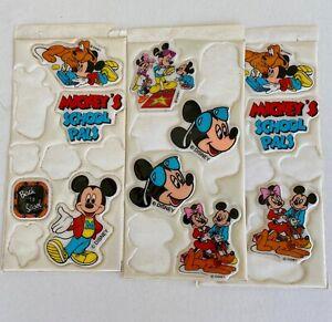 Mickeys Stuff Disney Character Puffy Stickers lot of 3 packs
