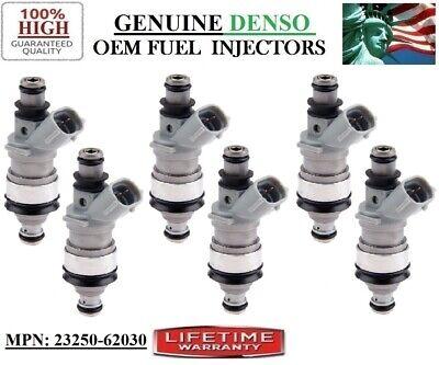 #23250-62030 OEM Denso Fuel Injectors *1992-1993 Lexus ES300 3.0L V6 Reman Set//6