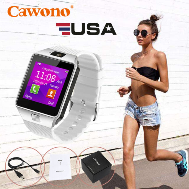 White DZ09 Bluetooth Smart Watch GSM SIM for iPhone Samsung Android Phone Mate
