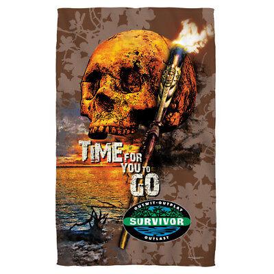 Survivor TV Show Skull TIME FOR YOU TO GO Lightweight Beach Towel