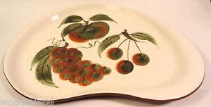 Vintage-Stangl-Pottery-Orchard-Song-Kidney-Platter-Dinnerware