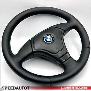Lederlenkrad-BMW-E31-E34-E36-E39-Z3-Lenkrad-mit-Airbag-LEDER-GLATTES