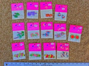 Lot of 13 Pair of hand-crafted miniatures for earrings, necklaces, bracelets NEW