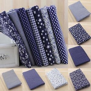 7Stk-DIY-Stoffpakete-Stoffreste-Blumen-Patchwork-Stoffe-Baumwolle-Tuch-25-25cm