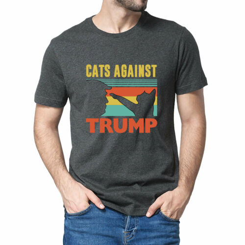Funny Cat Cats Against Trump Cat Punch Anti Hates Vote Out T-Shirt XS-3XL