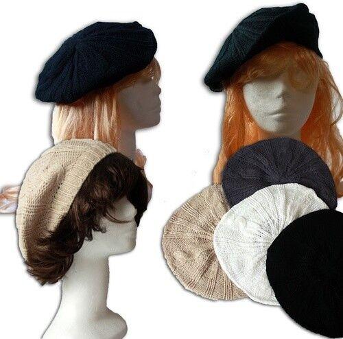 Bonnet Femmes Béret Tricoter Bonnet Noir Beige Blanc Gris