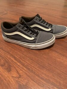 Vans-Sk8-Gray-Black-White-721356-Mens-7-5-Pre-Owned-Great-Condition-Lace-Up