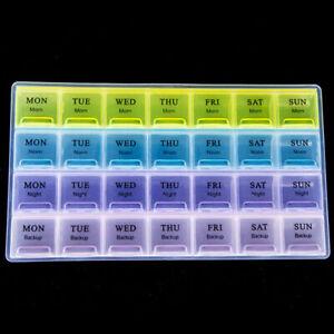 1X28 Tage Medikamentenbox Pillendose Pillenbox Tablettendose N U3V0 Tablett J8E1