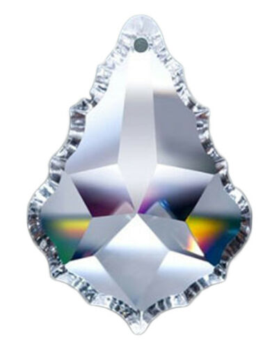 Clear Asfour Crystal 911 Pendeloque Crystal Prisms Set of 5-76 mm 1 Hole