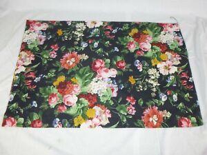 Single Ralph Lauren Isadora Cosette Std Pillowcase Black Floral 100% Cotton