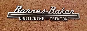 BARNES-BAKER CHILLICOTHE TRENTON DEALER TRUNK EMBLEM   eBay