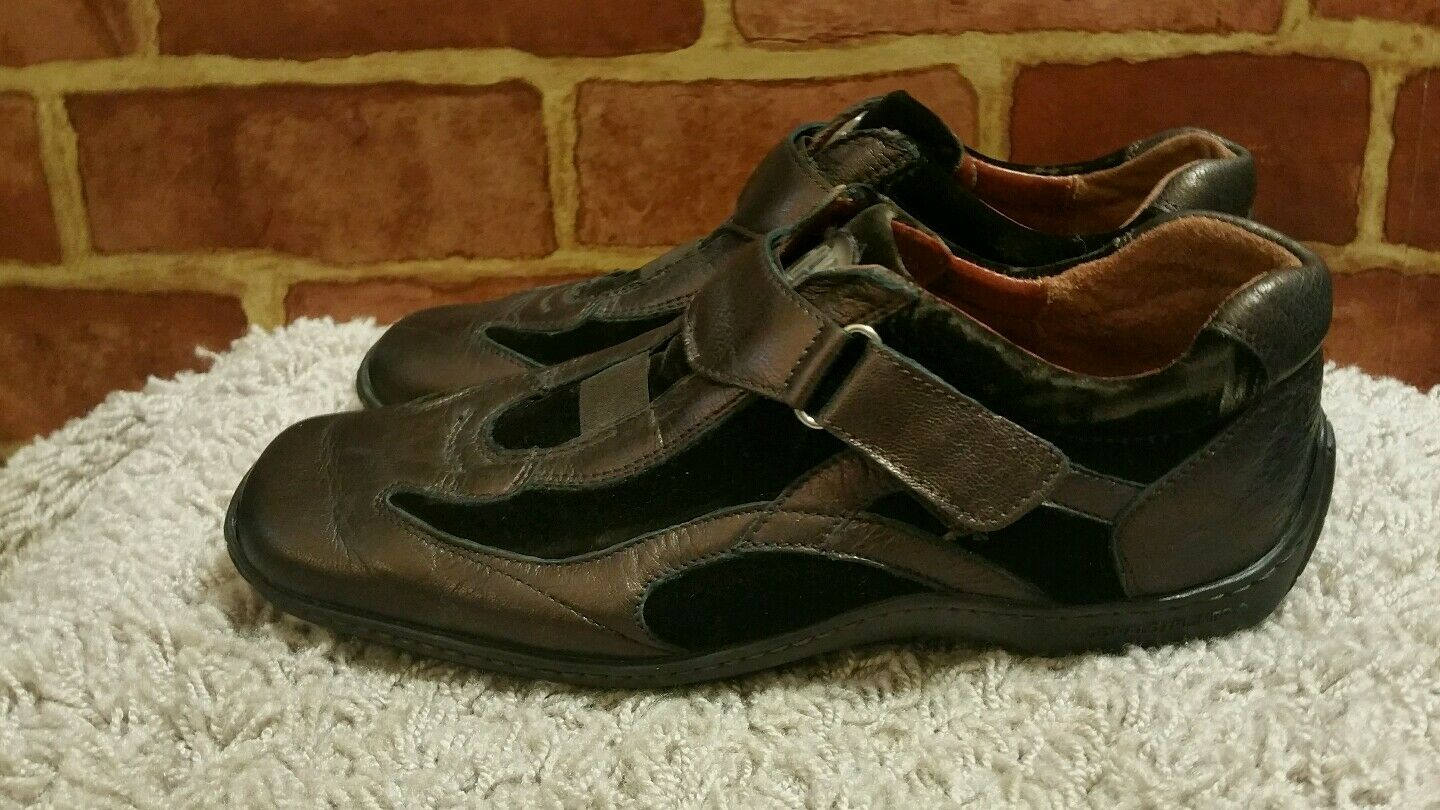 DONALD J PLINER SPORT DOTARE 7 M BRONZE 1751 LEATHER BROWN VELVET SNEAKERS 1751 BRONZE ecdef5