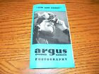 Vintage Illustrated Argus Camera & Equipment Brochure w/Prices~Good Condition