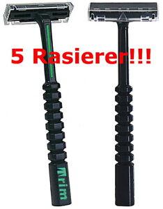 5 Stück Rasierer TRIM Kunststoff kompatibel mit Gillette G2 GII Klingen Duplo