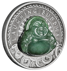 2019-LAUGHING-BUDDHA-1-Dollar-1oz-9999-SILVER-ANTIQUED-JADE-Insert-COIN