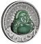 2019-LAUGHING-BUDDHA-1-Dollar-1oz-9999-SILVER-ANTIQUED-JADE-Insert-COIN thumbnail 1