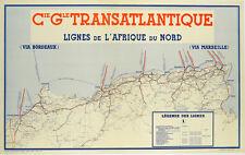 Affiche ancienne - CGT Afrique du Nord -1950