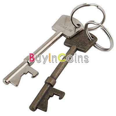 New Bottle Opener Key Ring Keyring Chain Metal Bar Tool BA AU