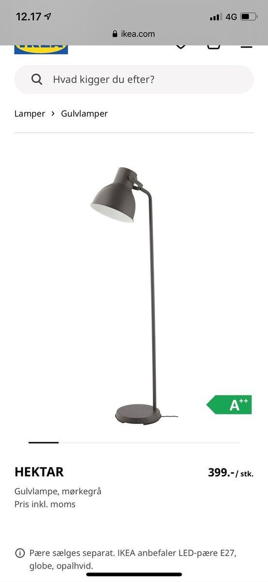 Gulvlampe, Ikea – dba.dk – Køb og Salg af Nyt og Brugt