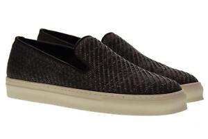 Dettagli su Antica Cuoieria scarpe uomo slip on 20123 I V06 INTRECCIO KIRA GRIGIO P18