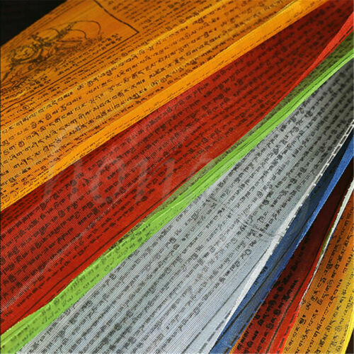 20pcs 25*13cm Tibetan Buddhist Prayer Flag Wall Decor 5 Different Colors 1 Set