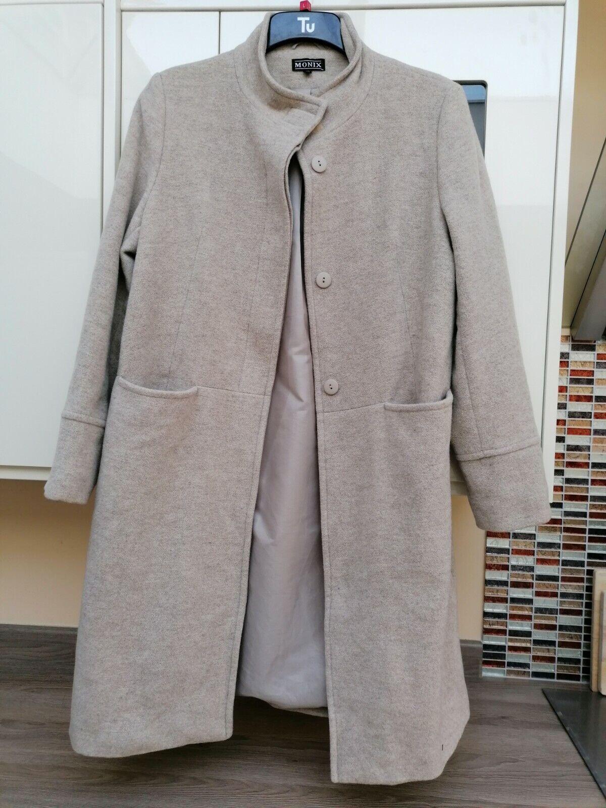 Beige Smart Monix Wool Mix Coat 14/16 see measurements