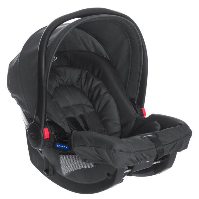 Graco SnugRide R44 Midnight Black Group 0 Baby Car Seat Rear Facing