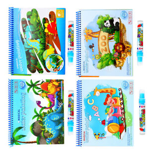 Details about Magic Water Drawing Book Coloring Book Doodle Magic Pen  Animals Zoo Painting